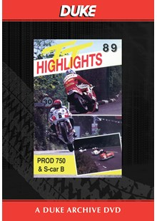 TT 1989 Production & Sidecar B Races Duke Archive DVD