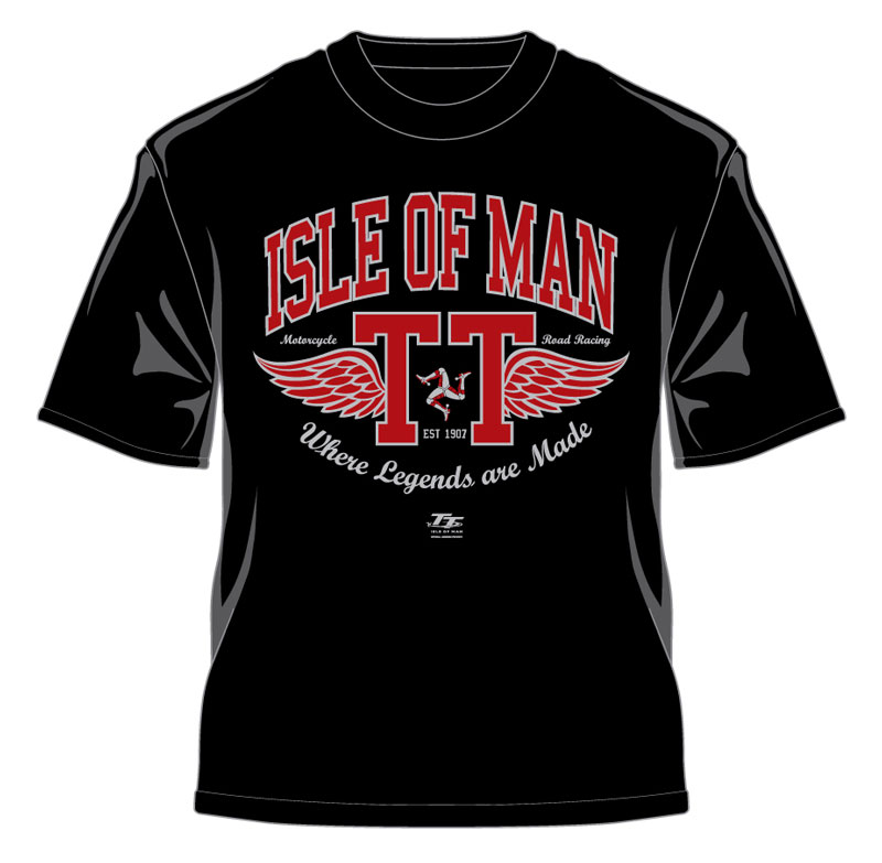 reputable site aed40 ad48f TT Retro T-Shirt Red Wings Black