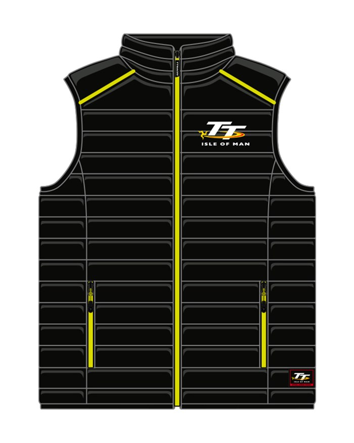 TT Black and Green Bodywarmer - click to enlarge