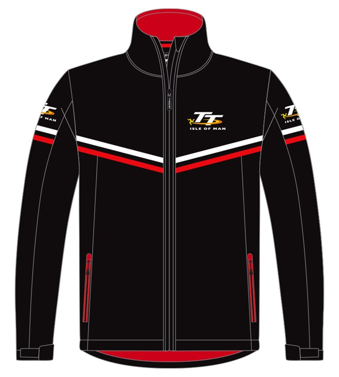 TT Softshell Jacket with Red & White Piping - click to enlarge