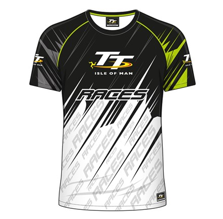 TT All over Print T-Shirt White and  Green - click to enlarge