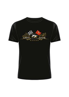 TT 2018 Gold Bikes T-shirt Black