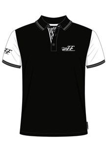 Classic TT Polo Black with White Sleeves