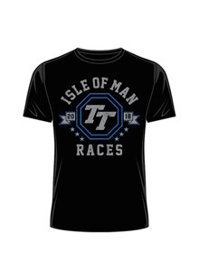 Isle of Man 2018 TT Races Octagon T-Shirt Black