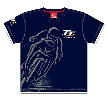 TT Childs Custom T-Shirt Navy Shadow Bike - click to enlarge