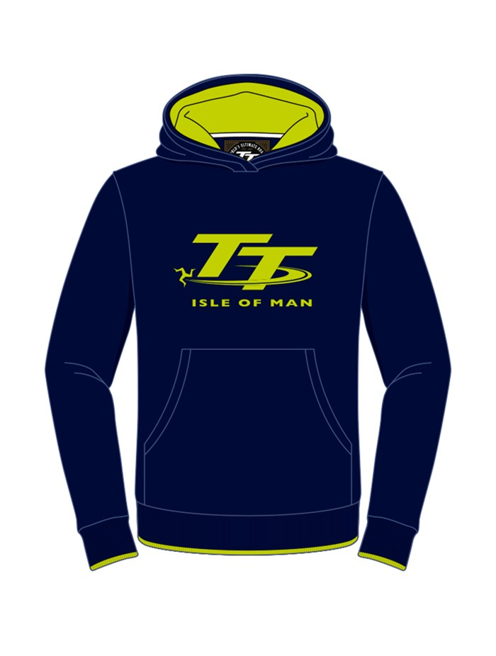 TT Childs Hoodie Navy/Green - click to enlarge