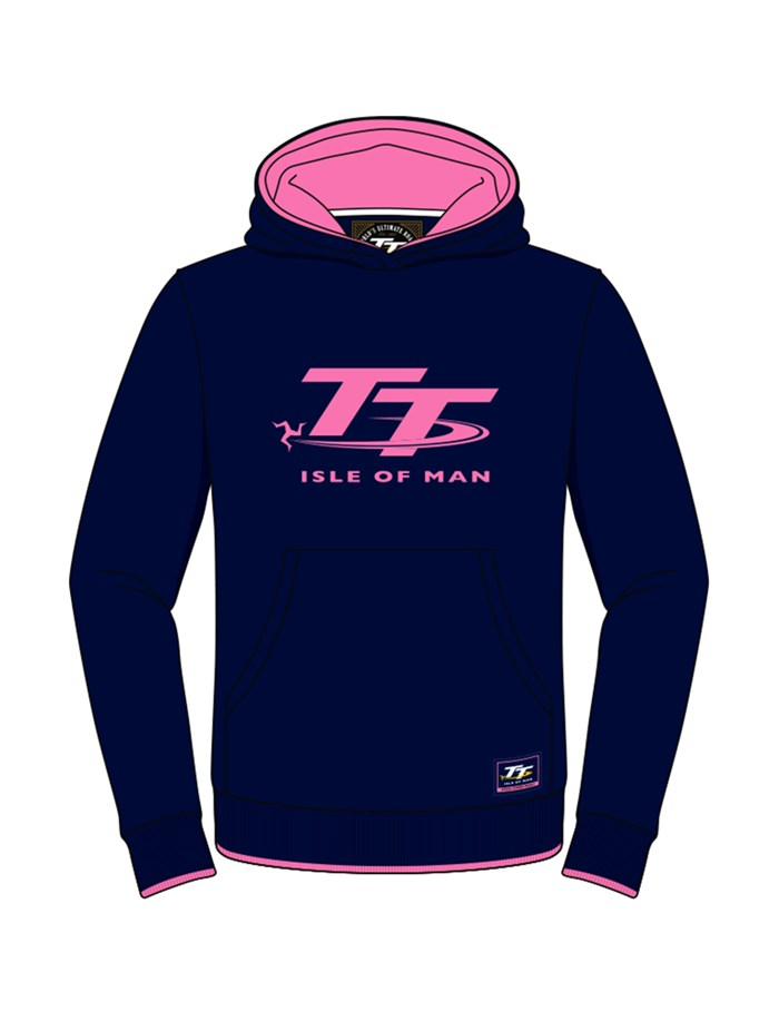 TT Childs Hoodie Navy/Pink - click to enlarge