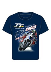 TT 2018 Bike 10 Childs T-Shirt Navy