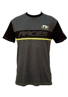TT Custom T-Shirt  Dark Heather Yellow Stripe