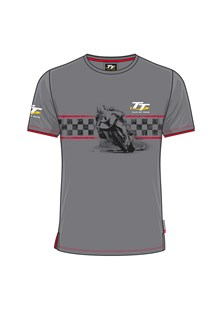 TT Custom T-Shirt Grey,Red Trim