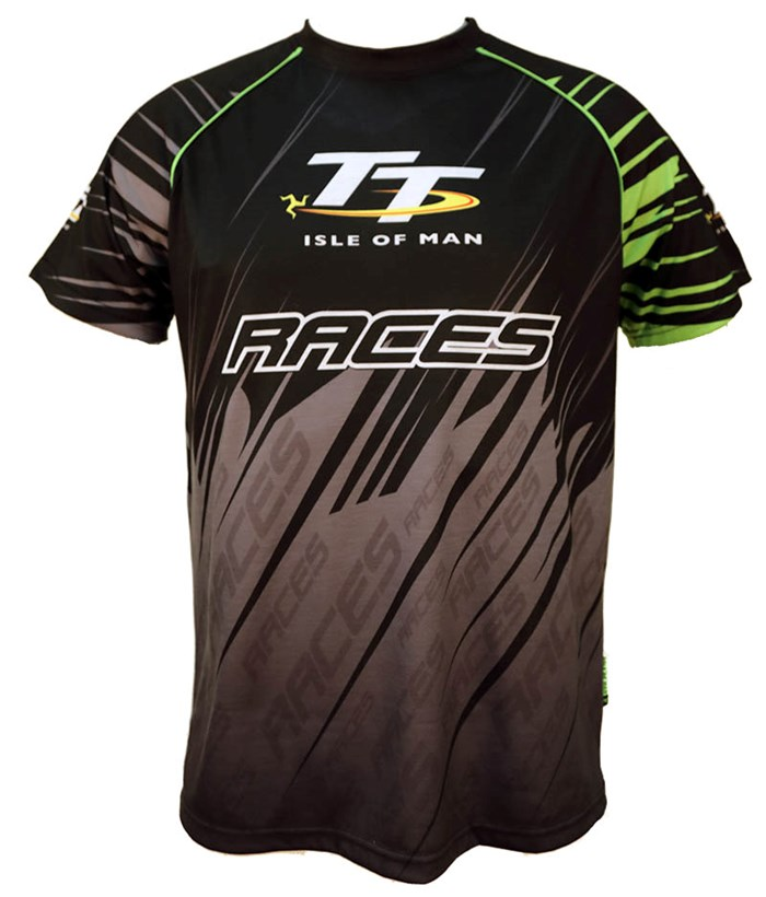 TT All over Print T-shirt Black and Green - click to enlarge