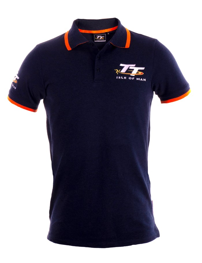 TT Polo Navy, Orange Trim - click to enlarge