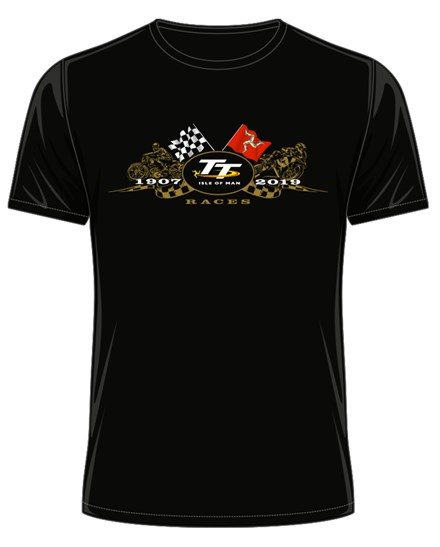 TT 2019 Gold Bikes T-Shirt Black - click to enlarge
