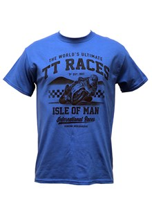 The Worlds Ultimate TT Races Est 1907 T- Shirt Royal Blue