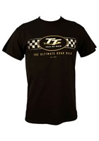TT Logo Check Design T-Shirt Black