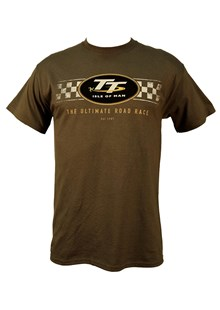 TT Check Design T-Shirt Charcoal