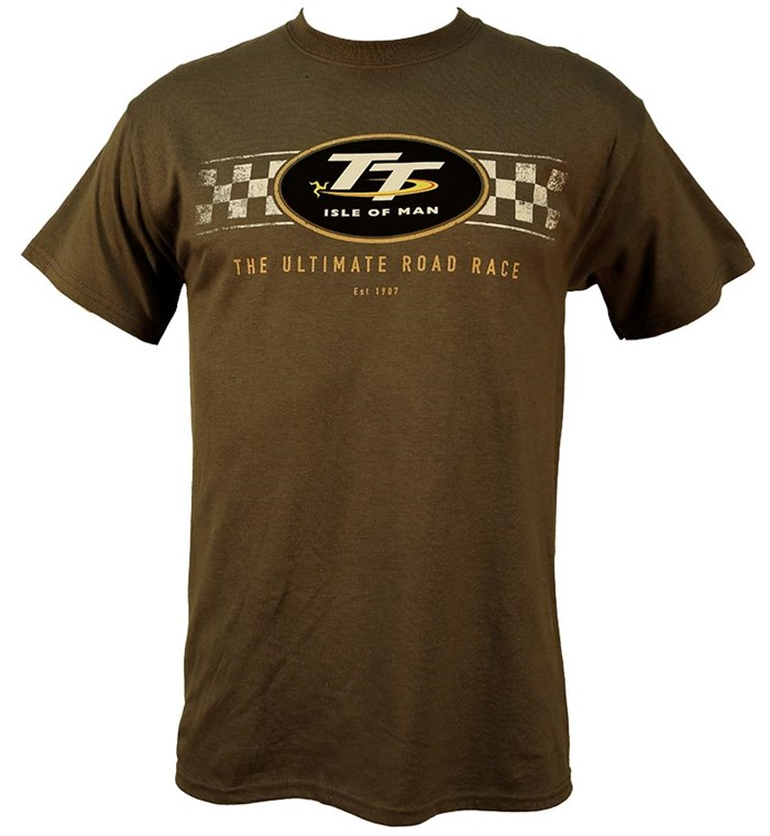 TT Check Design T-Shirt Charcoal (light grey) - click to enlarge