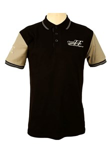 Classic TT Polo Shirt Black with Grey Sleeves