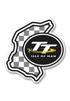 TT Fridge Magnet,Chequered & TT Logo