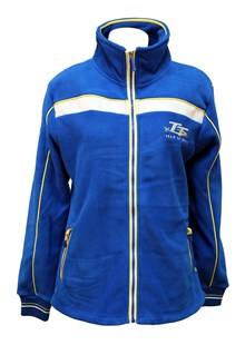 TT Ladies Blue and White Fleece,Yellow Stripe