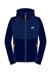 TT Ladies Zipped Hoodie Navy