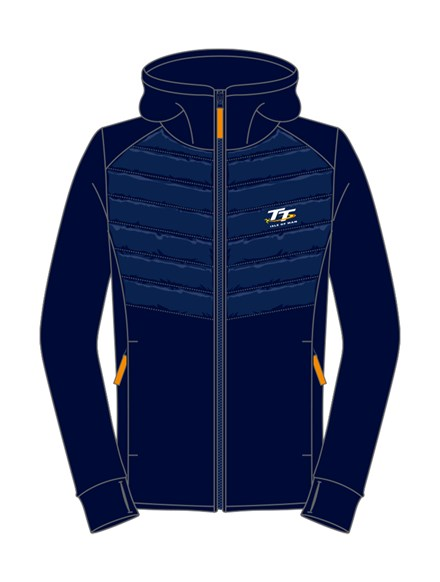 TT Ladies Zipped Hoodie Navy - click to enlarge