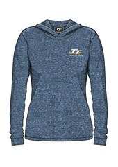 TT Ladies Lightweight Hoodie, Blue Flecked