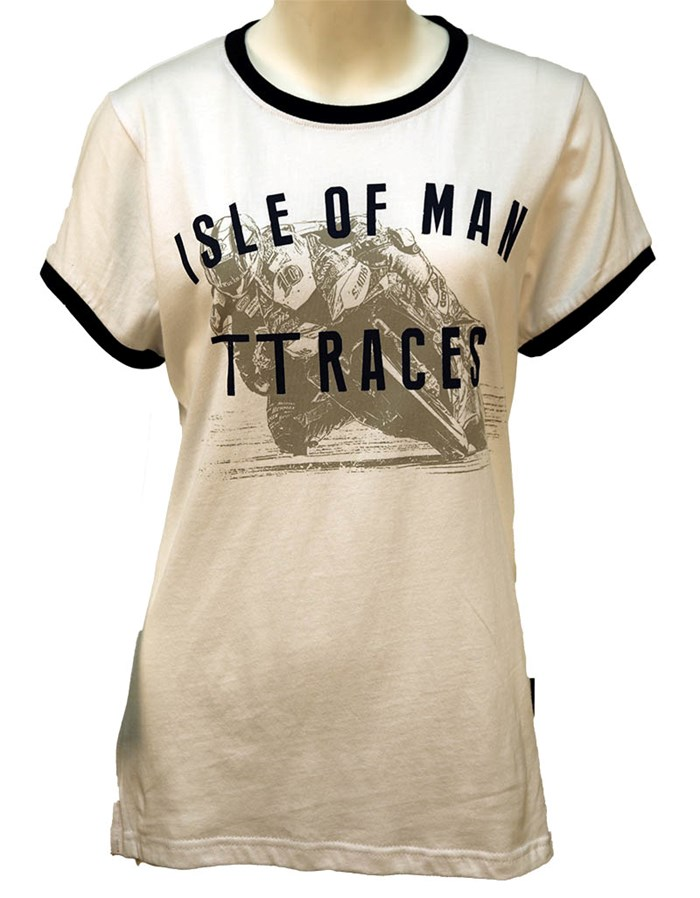 TT Ladies Vintage T-shirt White - click to enlarge
