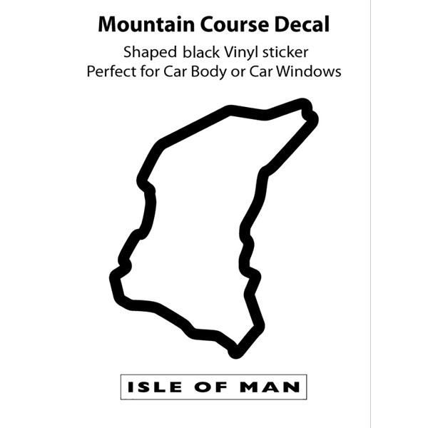 Isle of Man TT Course Outline Decal : Isle of Man TT Shop