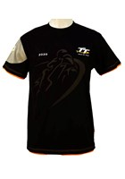 TT 2020 Custom Shadow Bike T-Shirt with Orange Trim