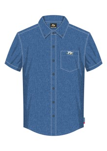 TT Denim Short Sleeved Shirt Blue