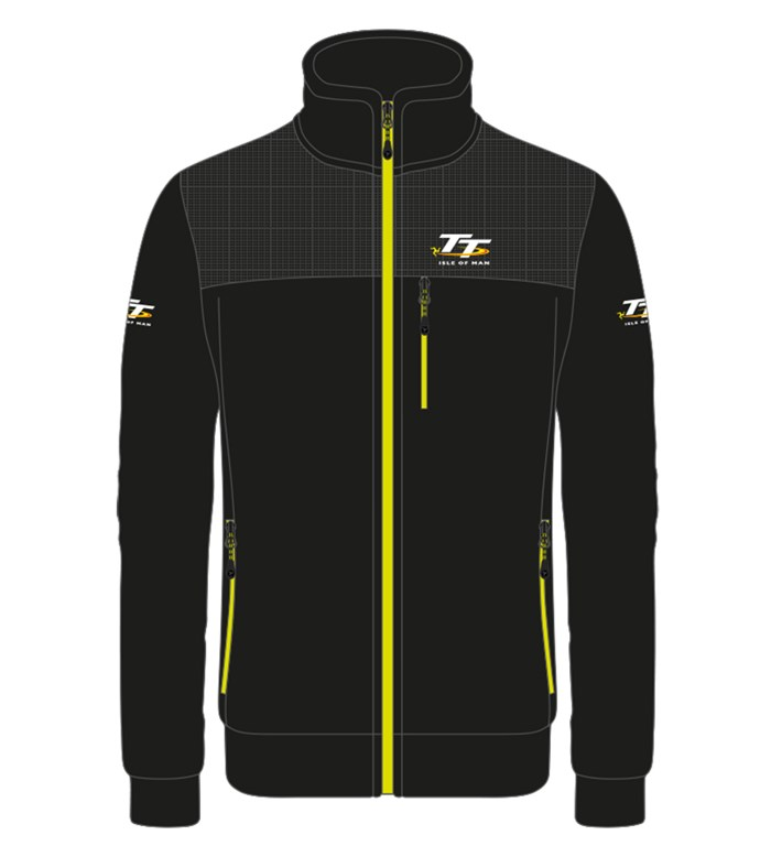 TT Fleece Black with Yellow Trim - click to enlarge