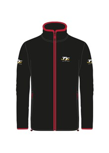 TT Fleece Black with Red Trim