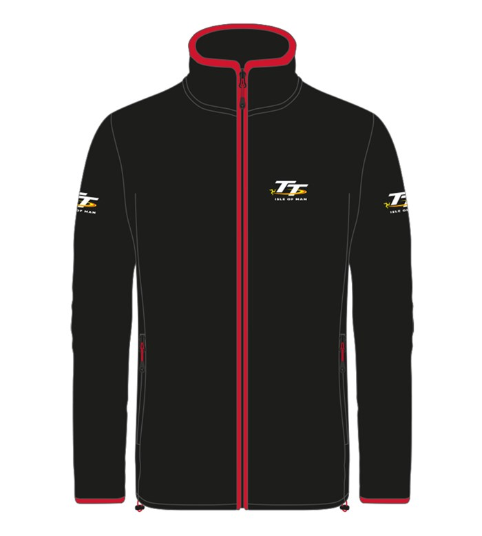 TT Fleece Black with Red Trim - click to enlarge