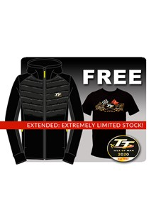 TT Ribbed Black Hoodie with Free Gold Bikes T-Shirt and TT Pin