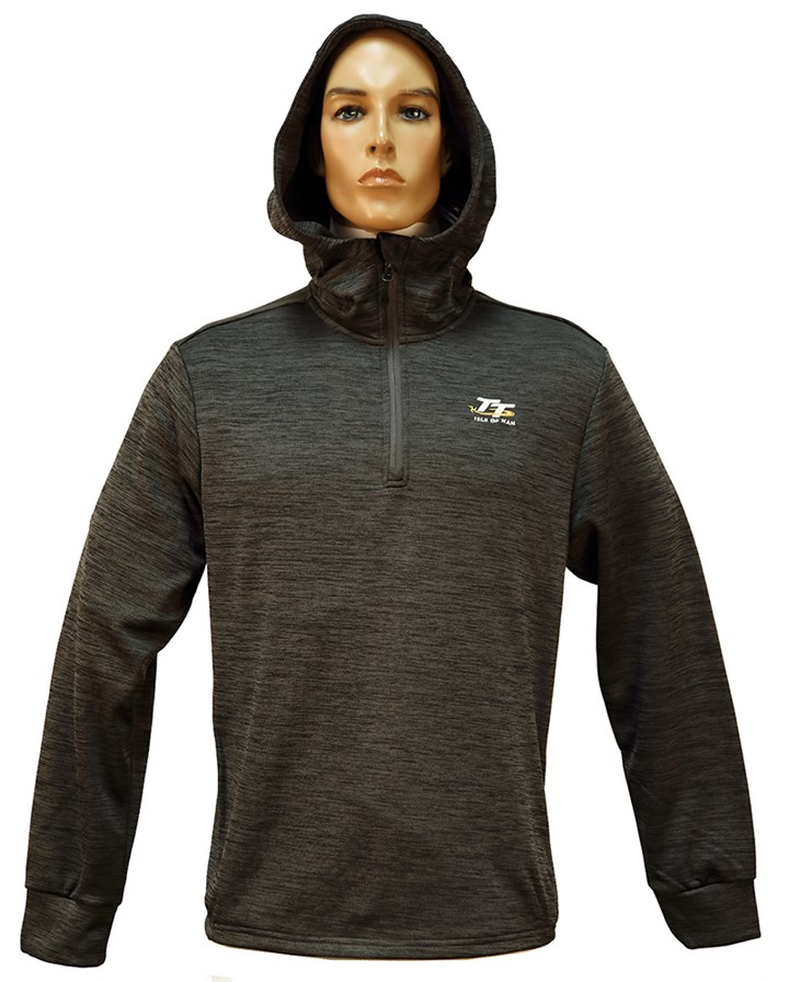 TT Quarter Zip Hoodie Grey - click to enlarge