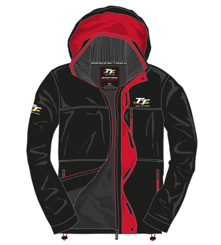 TT Midweight Jacket Black/Red Trim - click to enlarge