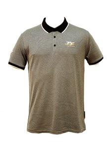 TT Polo Grey with Black/White Collar