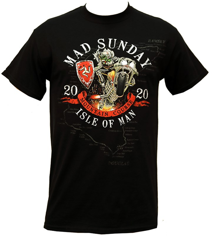 TT 2020 Mad Sunday T- Shirt Black - click to enlarge