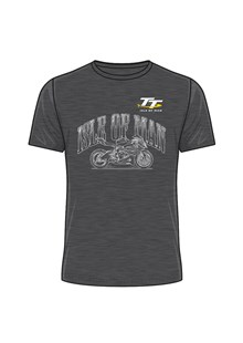 TT Isle of Man Sketched Bike T-Shirt Dark Heather