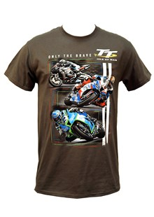 TT - Only The Brave T-Shirt Charcoal