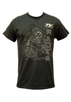 TT Races Mirrored Bike T Shirt Dark Heather