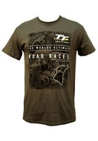 TT The Pits/Start Line T-Shirt Charcoal