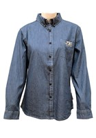 TT Ladies Denim Shirt Blue