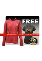 TT Ladies Hoodie Raspberry with Free Gold Bikes T-Shirt and TT Pin