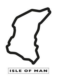 TT Course Black Outline Sticker