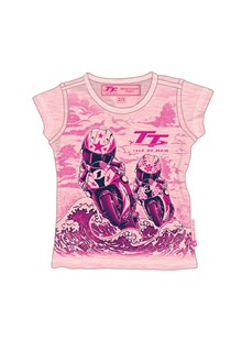 TT Bikes/Waves Baby T-Shirt Pink