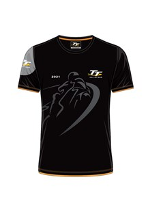TT 2021 Custom Shadow Bike T-Shirt with Orange Trim