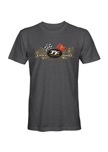 TT 2021 Gold Bikes T-Shirt Dark Heather