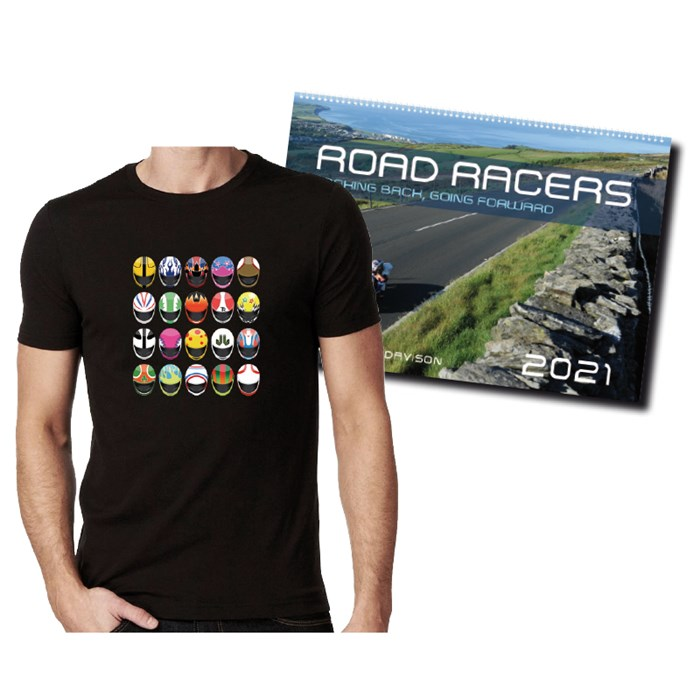 Road Racers 2021 Calendar and  Modern Helmets T-Shirt - click to enlarge